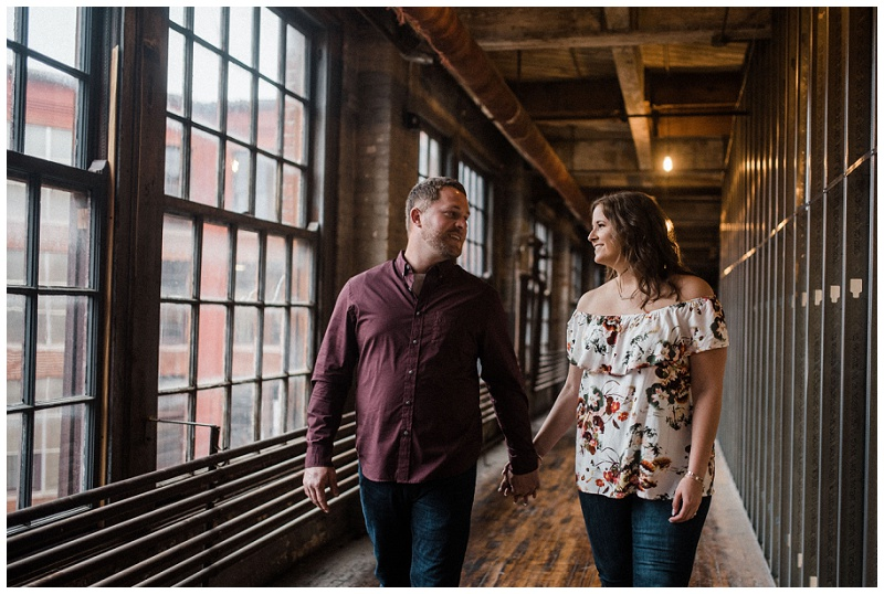 Old Industrial Building Engagement Portraits | Something Old Dayton