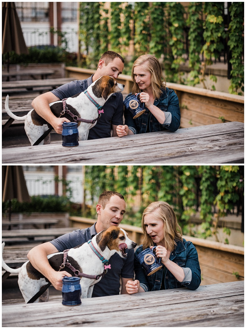 Jacob & Molly Engagement Portraits | Dayton Beer Company