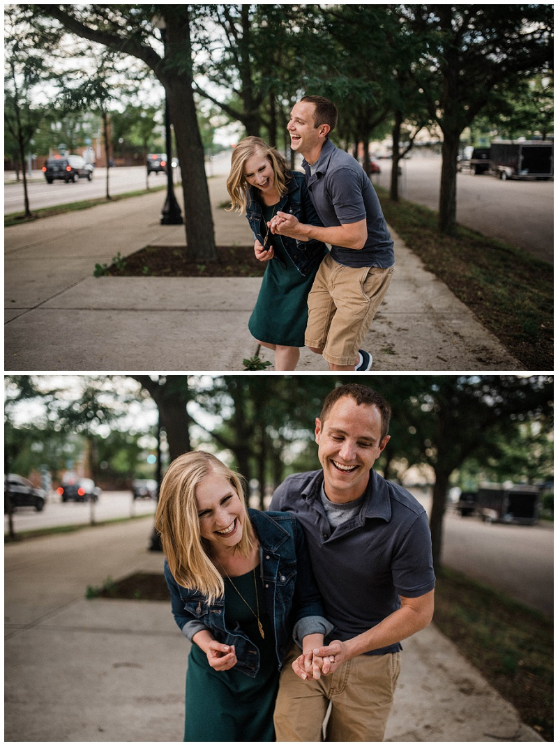 Jacob & Molly Engagement Portraits | Downtown Dayton