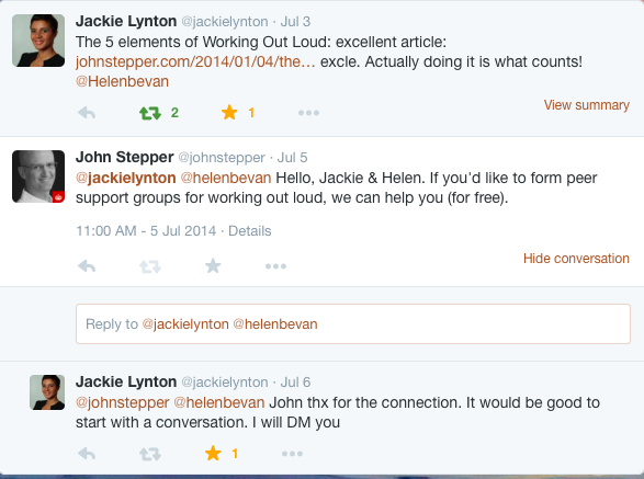 Jackie Lynton tweet