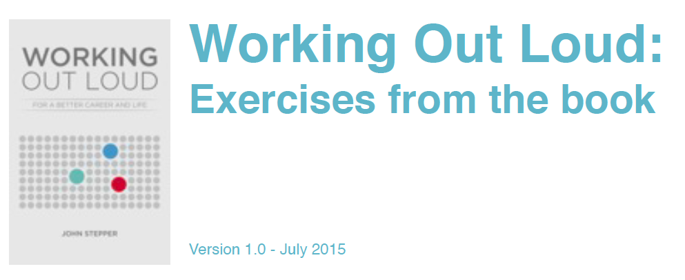 Working Out Loud: Exercises
