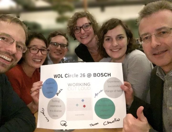 An early WOL Circle #selfie. (There are now well over 100 WOL Circles at Bosch.)