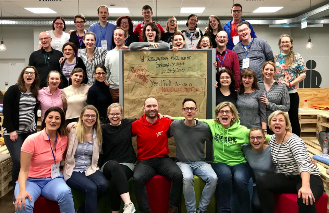 First group of certified WOL Mentors at Daimler & Bosch