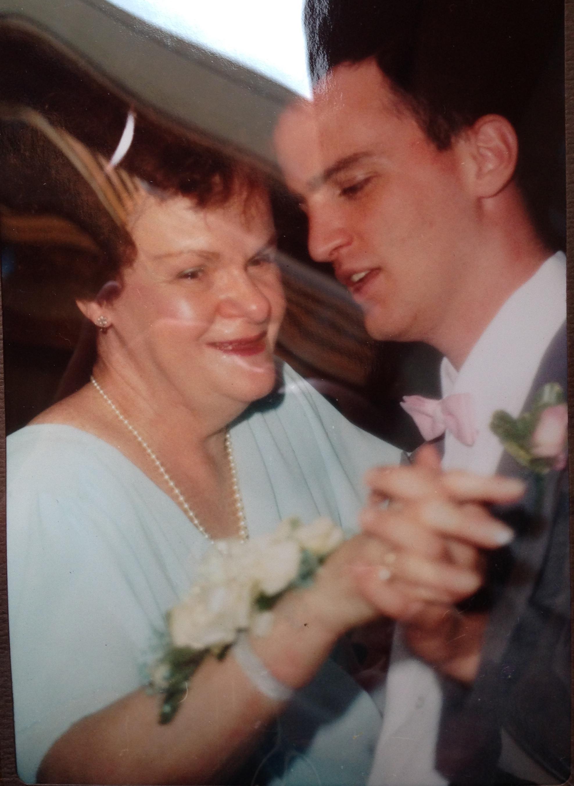 Dancing at my sister's wedding,30 years ago.