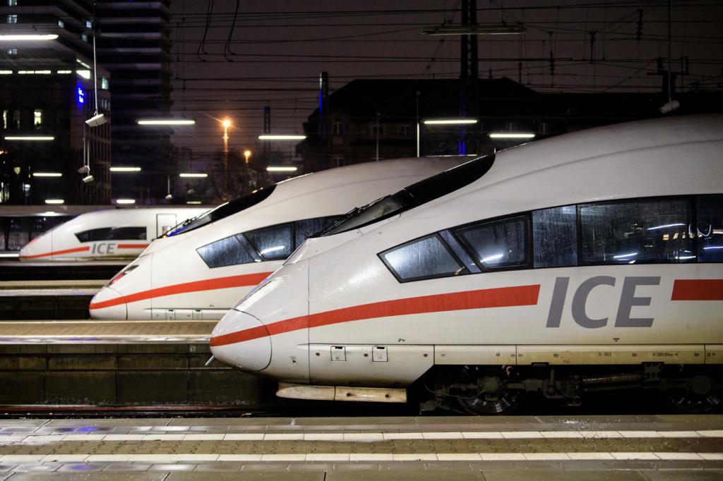 Deutsche Bahn ICE Trains. Photo: DPA
