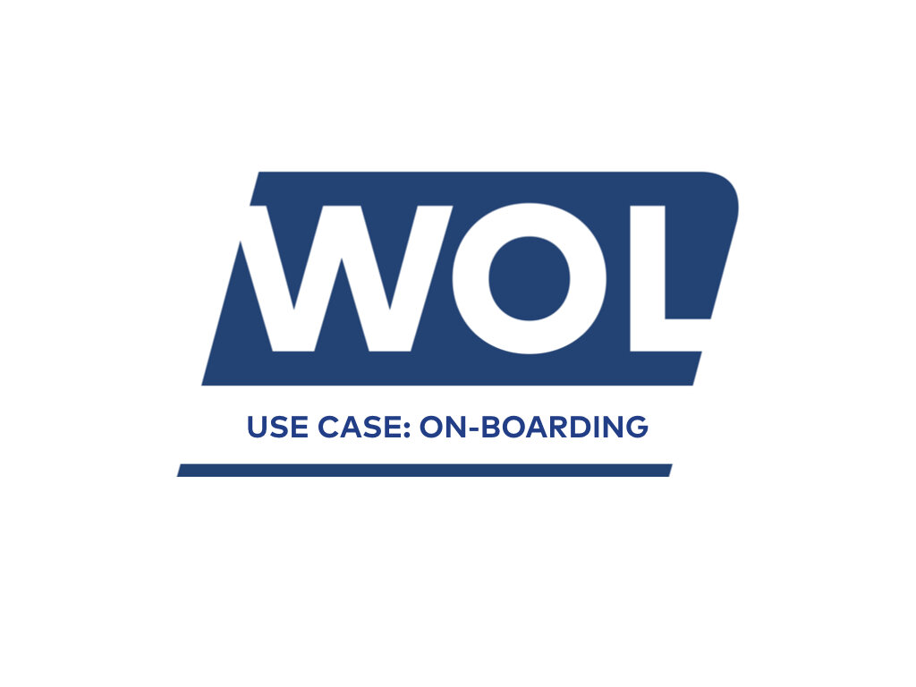 WOL Use Case - On-boarding