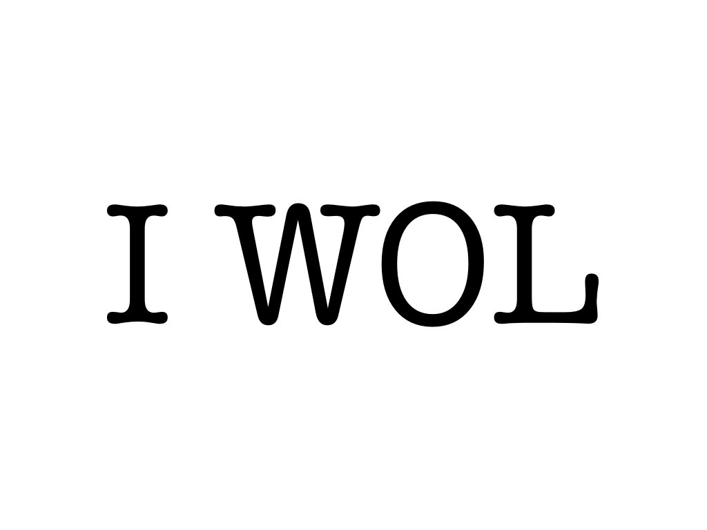 """I WOL"": What does it mean for you?"