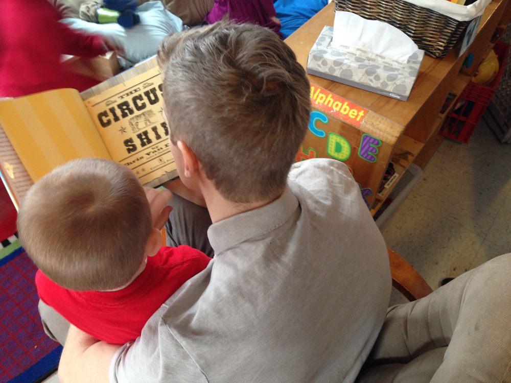 Brick and Beam volunteer readers on Dr. Seuss's Birthday