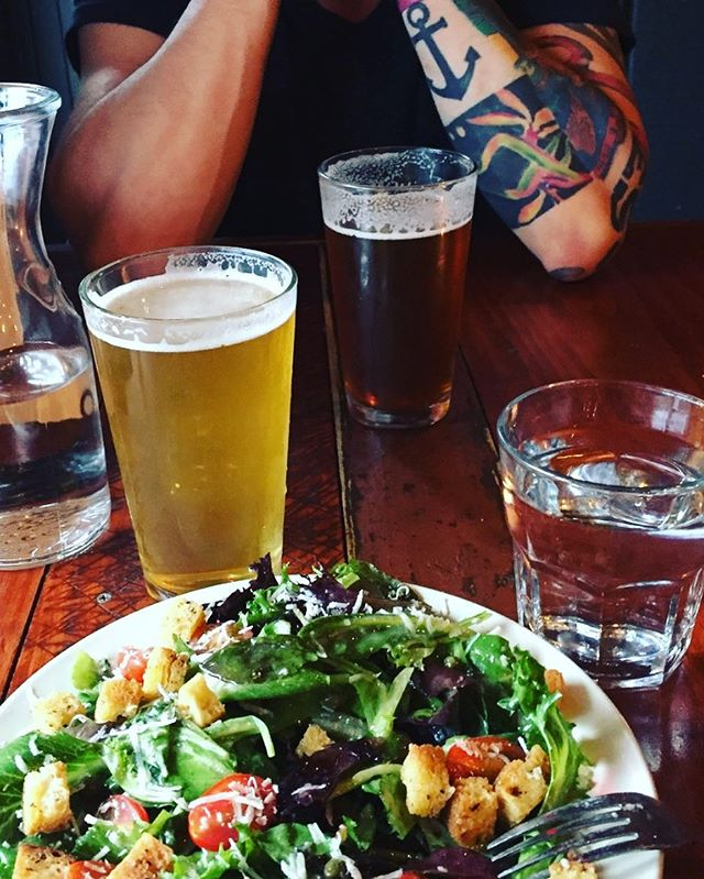 #ink #beer #salad