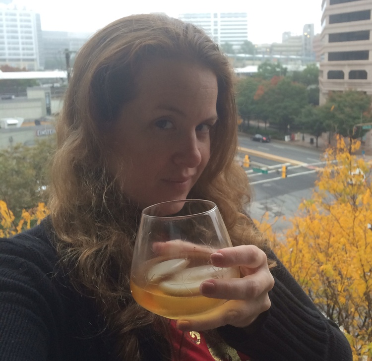 Melinda Miles toasting Val from Silver Spring, MD.