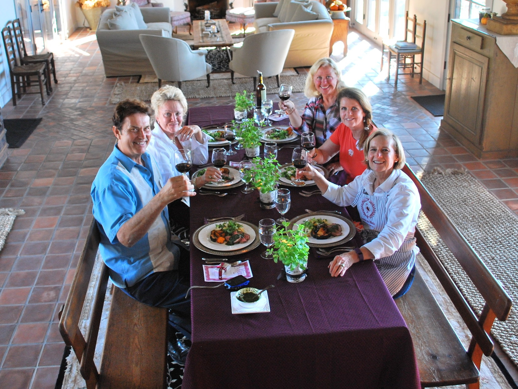 """November 10, 2016 """"Que Syrah, Syrah"""" Cooking Class, Diane Uke, Top, Right Side of Table"""