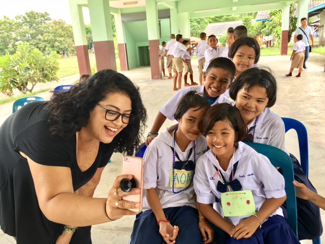Wendy with at-risk Thai kids, 2017