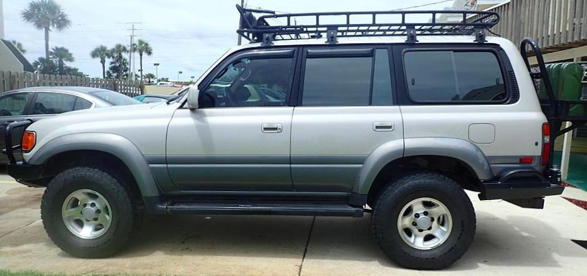 Our new-to-us 1997 Toyota Landcruiser that spent most of her life in Colorado.