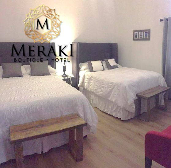 MERAKI BOUTIQUE HOTEL - Zona 10 Guatemala City, Guatemala  We had to stay in Guatemala City on multiple occasions and we always took these opportunities to splurge very seriously. When Gracie was having surgery at a vet in the city, we needed to stay close by for a few days. We found the Meraki. Beautiful, unique, secure parking, included breakfast, unlimited bottled water or tea, great location and they accepted our dog with no problem. They were also willing to negotiate the price on a slow weeknight (not much but a little). The customer service is at the Meraki is unbeatable as is the experience. We stayed their twice and both times the experience was perfect. We walked to local restaurants, the mall and to the movie theater.