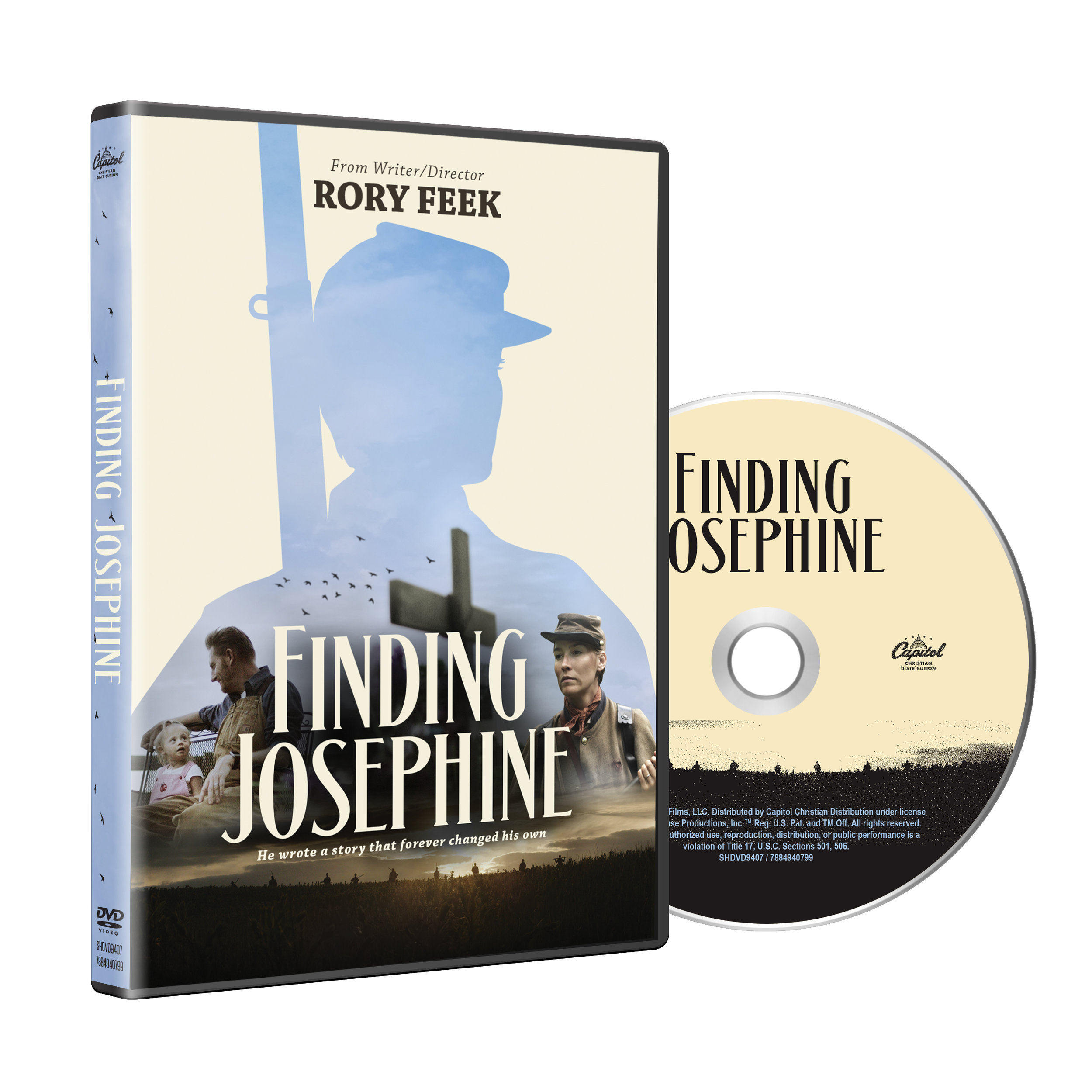 Finding Josephine - Inspired by letters he reads when he buys a 150-year old farmhouse, Writer/Director Rory Feek pens a story about the wife of a civil war soldier who enlists in the army and fights her way across the country to find her missing husband.As Rory is taken on Josephine's incredible journey, he personally dreams of having a love like hers. In the end, he gets that and so much more.