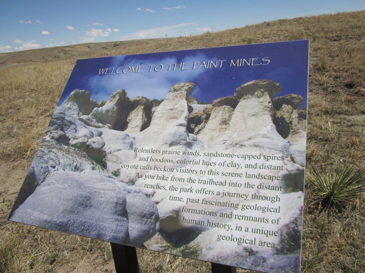 An interpretive sign greets you at the parking lot