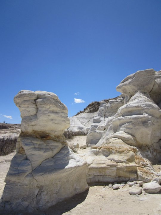 The first outcropping was pure white.