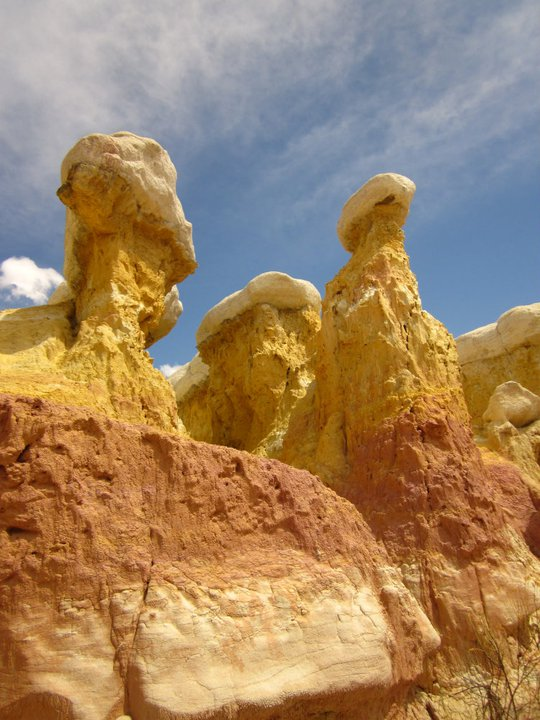 These hoodoos were more colorful