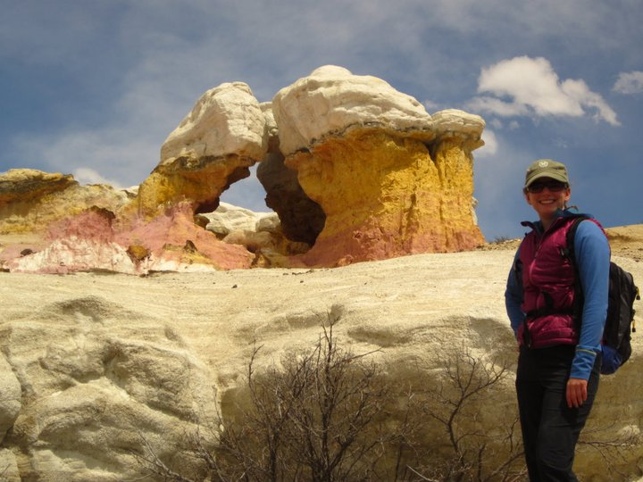 The Soapstress near a particularly vibrant outcropping
