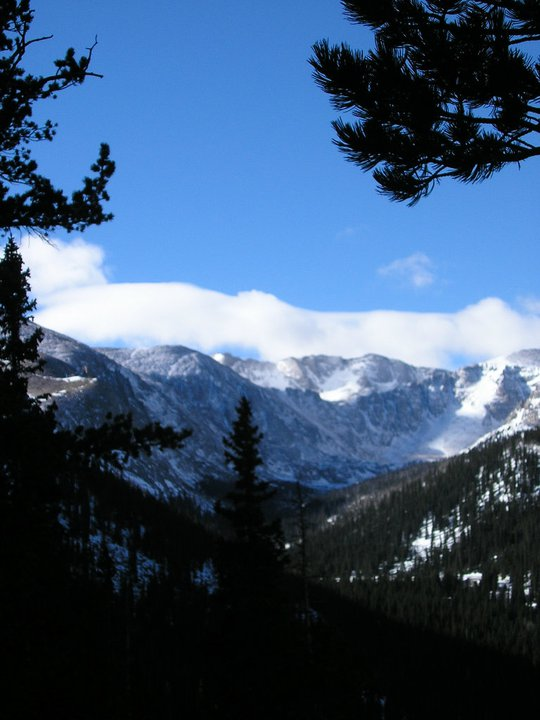 Mt. Evans looms in the distance.