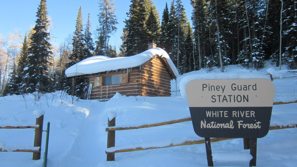 Piney Guard Station is an easy ski tour to a rustic cabin