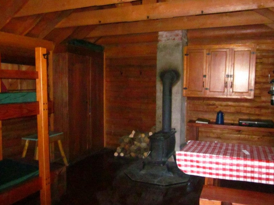 Interior of the cabin - neat and tidy