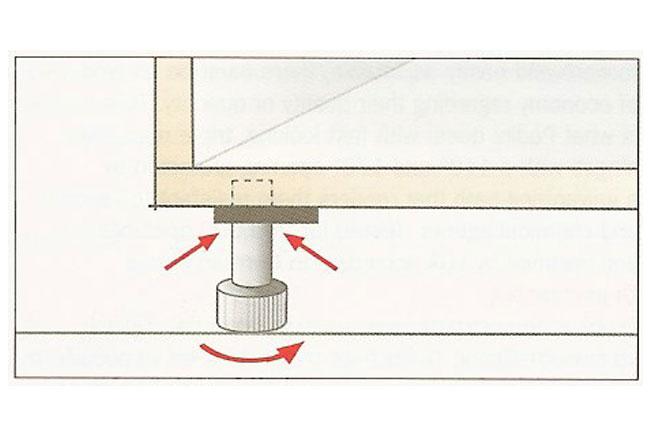 adjustable metal feet