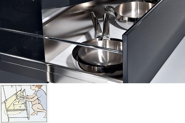 illuminated pan drawers
