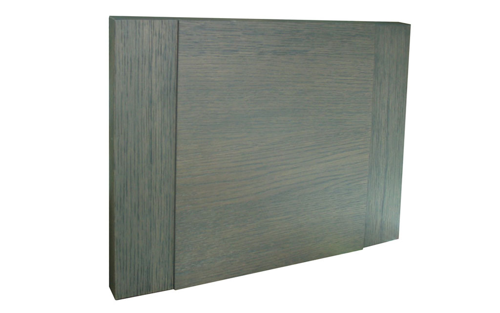 Veneered door with frame. Multiple color options available.