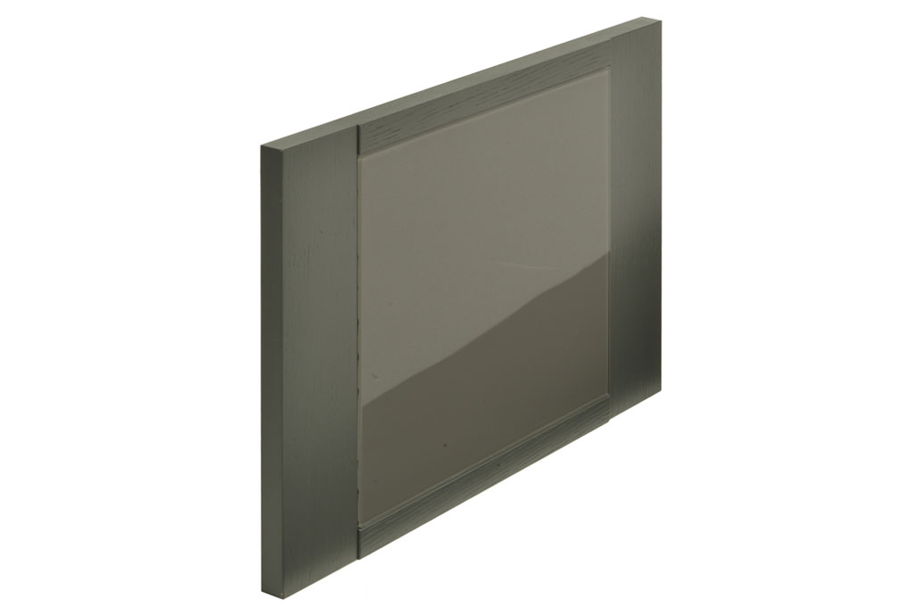 Veneer door with wood frame and glass, color options available