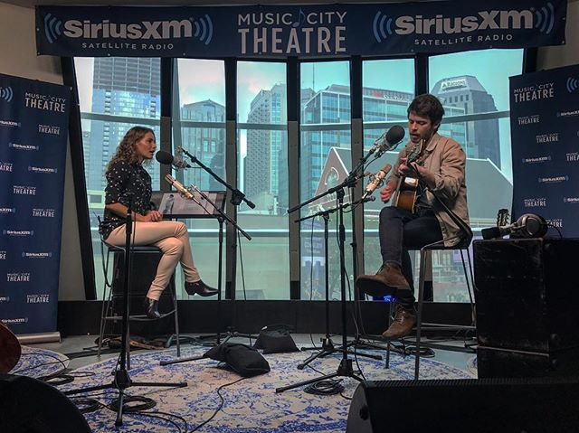 'Coffee House Session' for @siriusxm! Thanks @carolinejones for having me on your show. Had fun playing a few songs and talking about my songwriting process 🤘