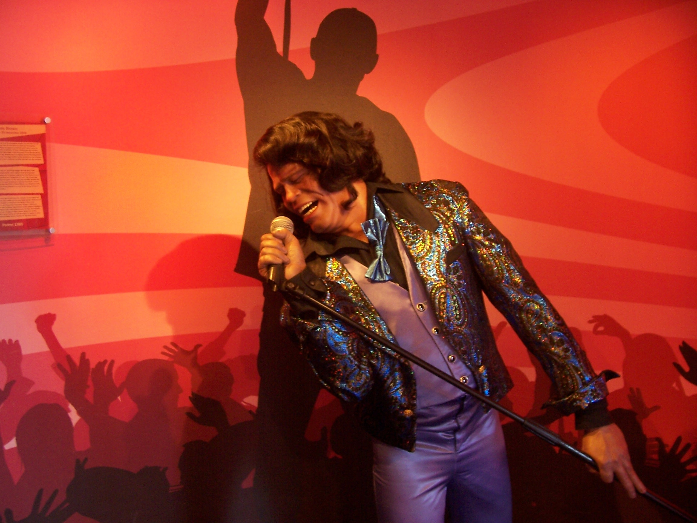 James Brown in Wax ( Source: Berto Garcia via  Wikimedia Commons )