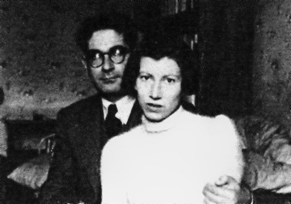 Natalia Ginzburg and her husband (Source: Wikimedia Commons)
