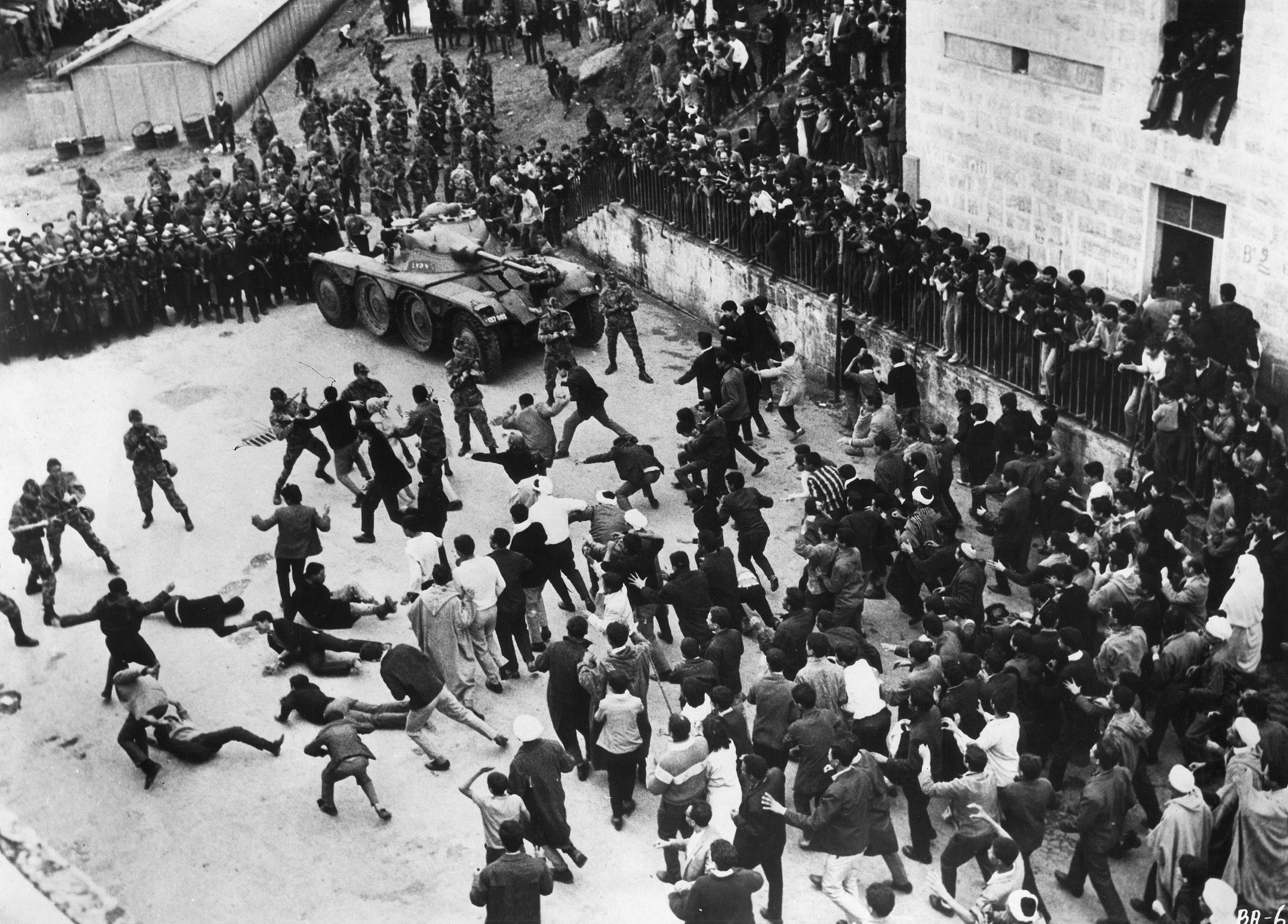 Stills from  The Battle of Algiers