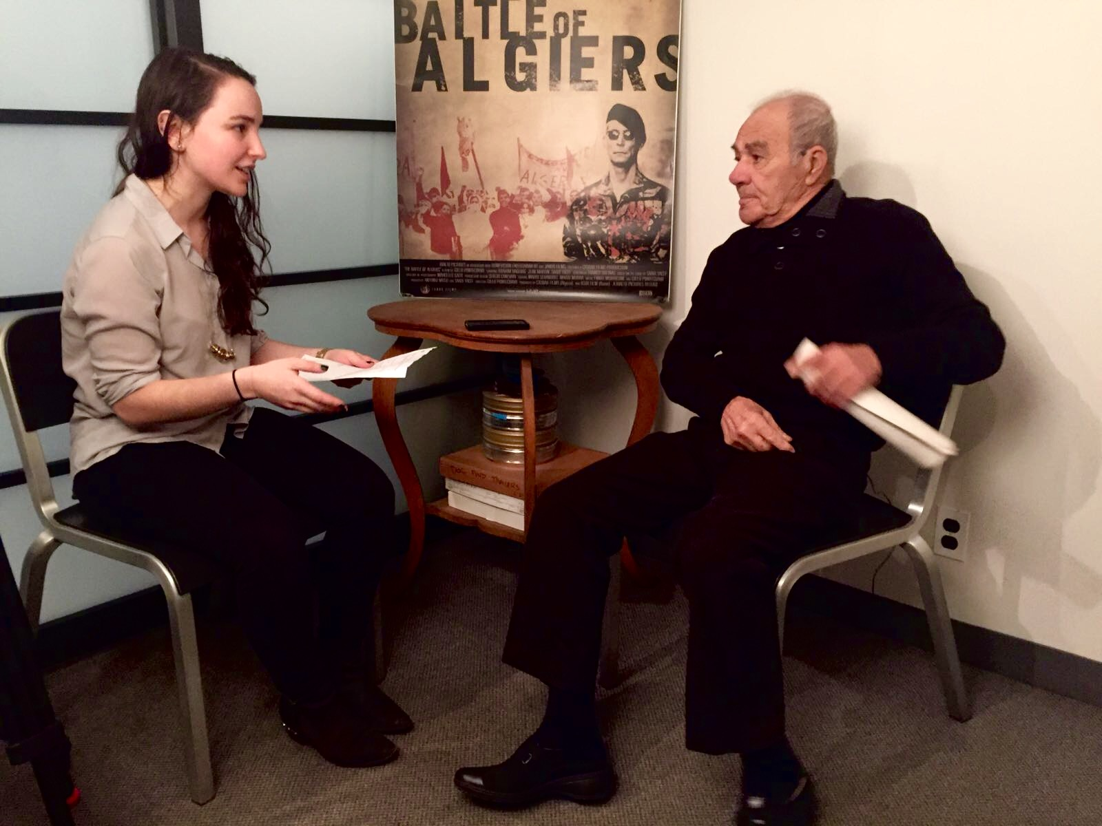 SAADI YACEF IN CONVERSATION WITH LSP'S EMILY LEVER AT FILM FORUM IN NEW YORK.
