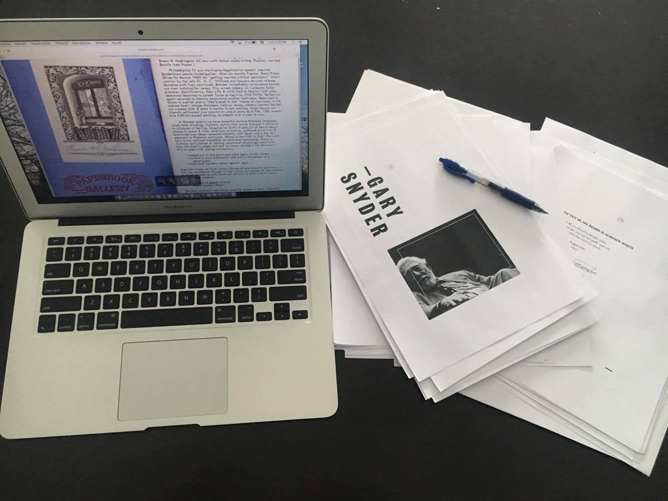 Writing, editing, and reading poetry. Photo Credit: Mariano Rolando Andrade