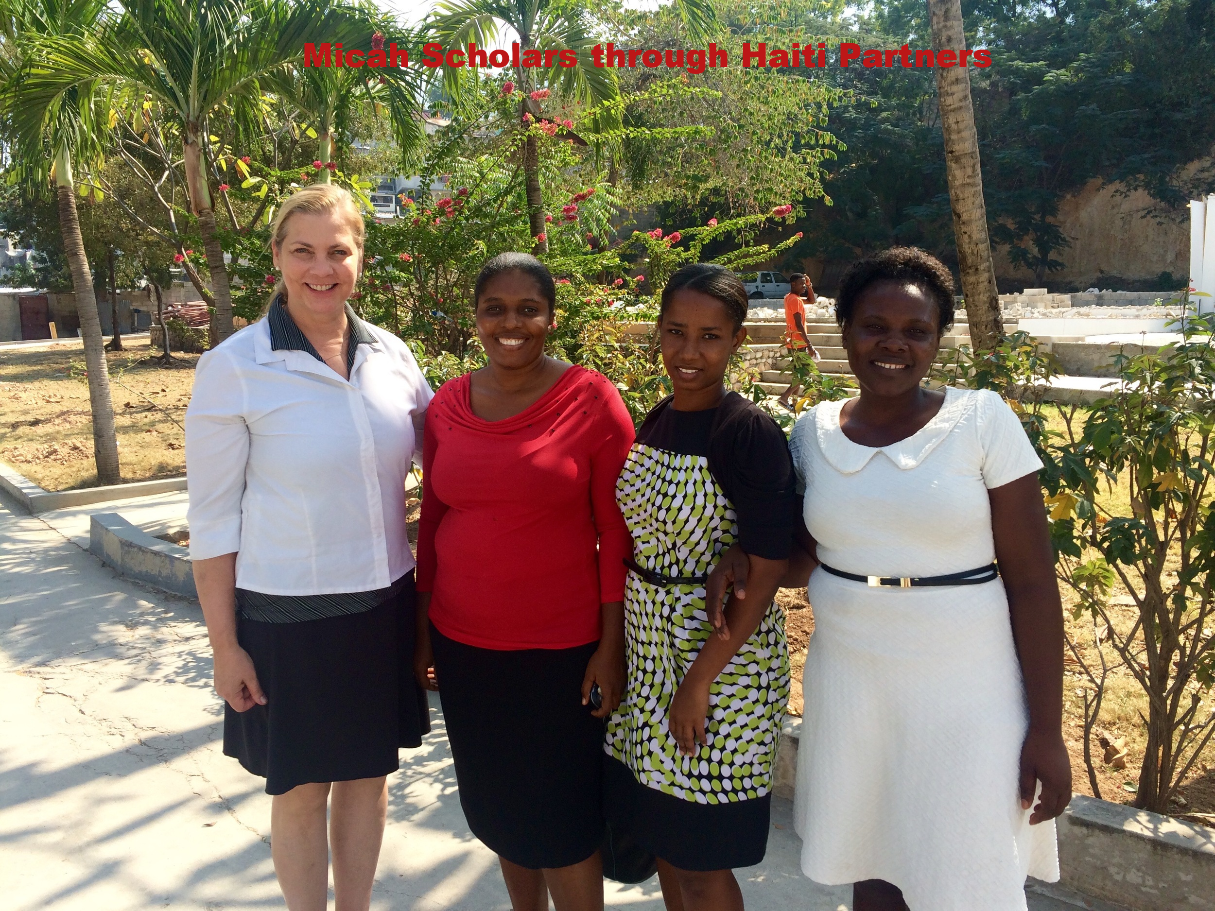 What a joy and privilege to meet three Micah Scholars in Port-au-Prince!There were many logistics involved to interview these seminary students: transportation for them,a translator to help us communicate from Creole to English, and trying to avoid the road closures during the turbulent election process. Thanks to Joyce Getchell of Reiser Relief for providing our transportation.