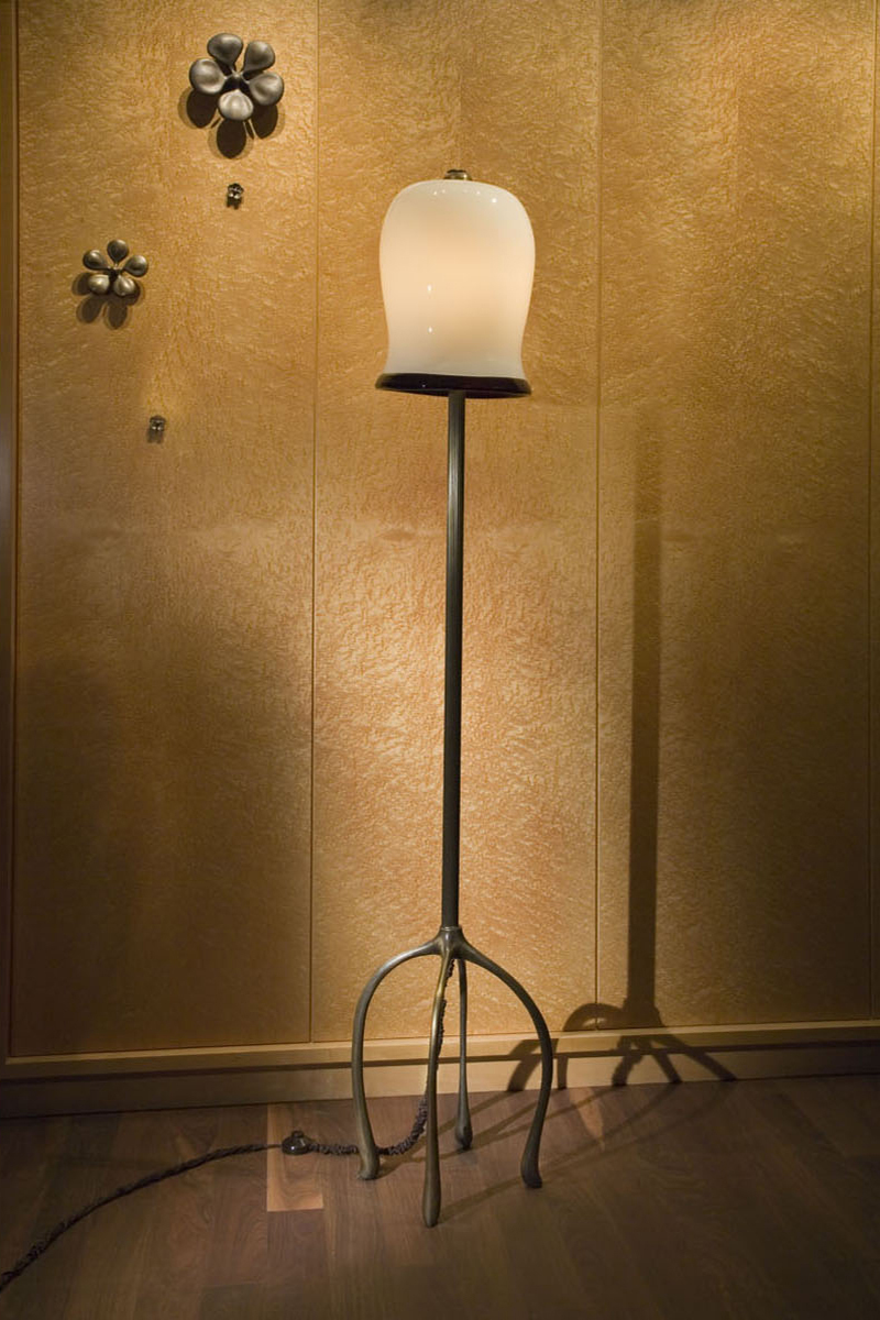 H57 Floor Lamp and Blossoms