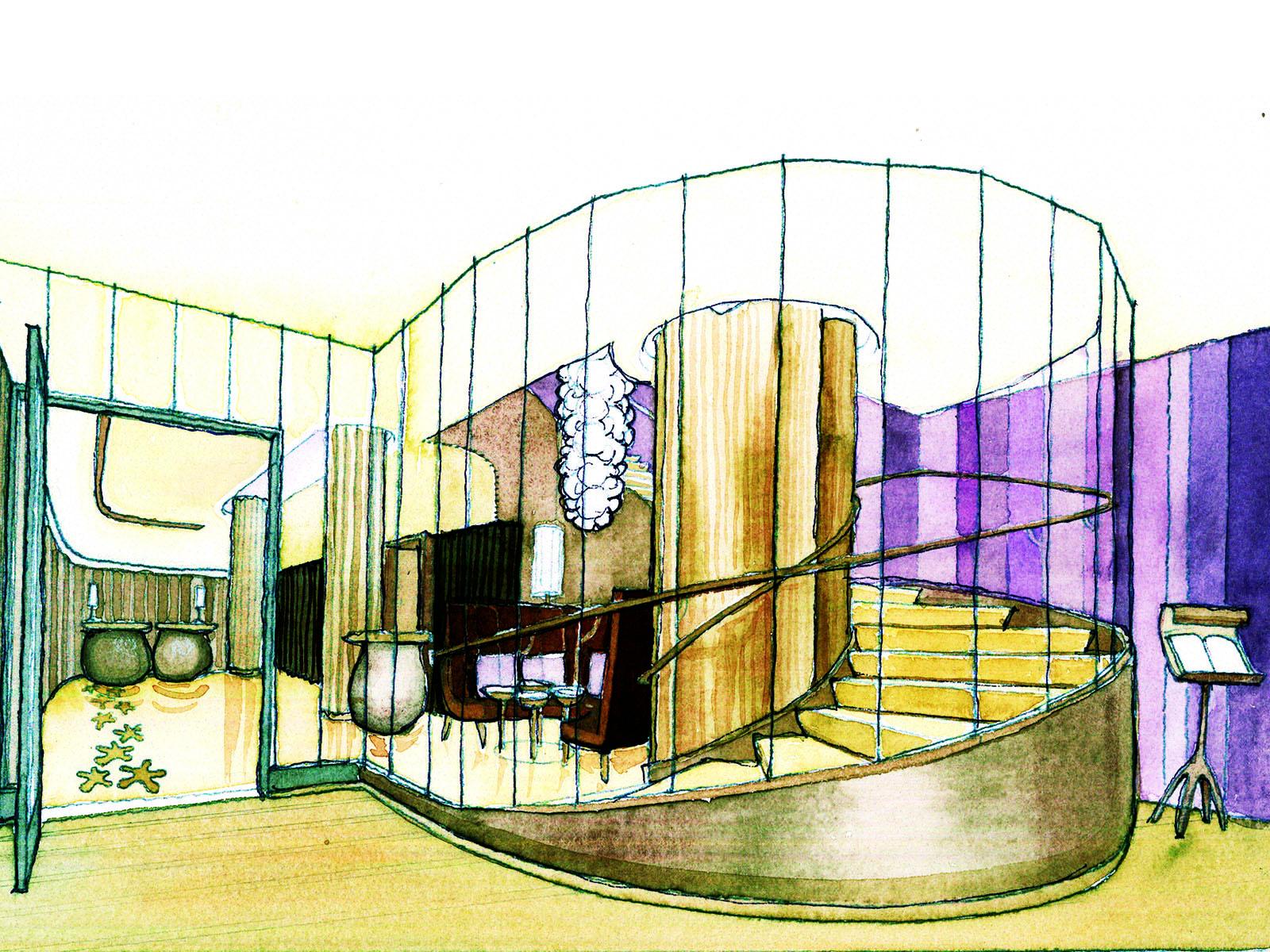 Entrance Watercolor Study