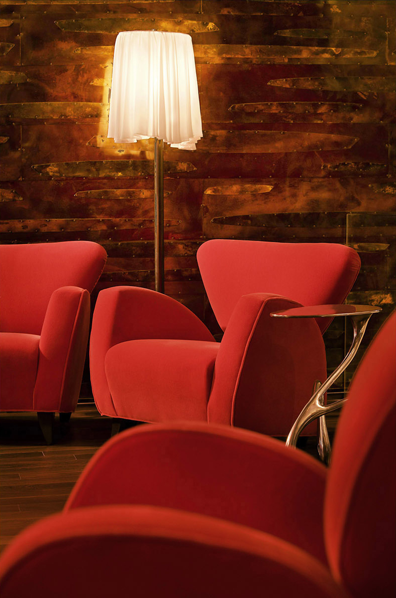 Lounge Chairs and Floor Lamp