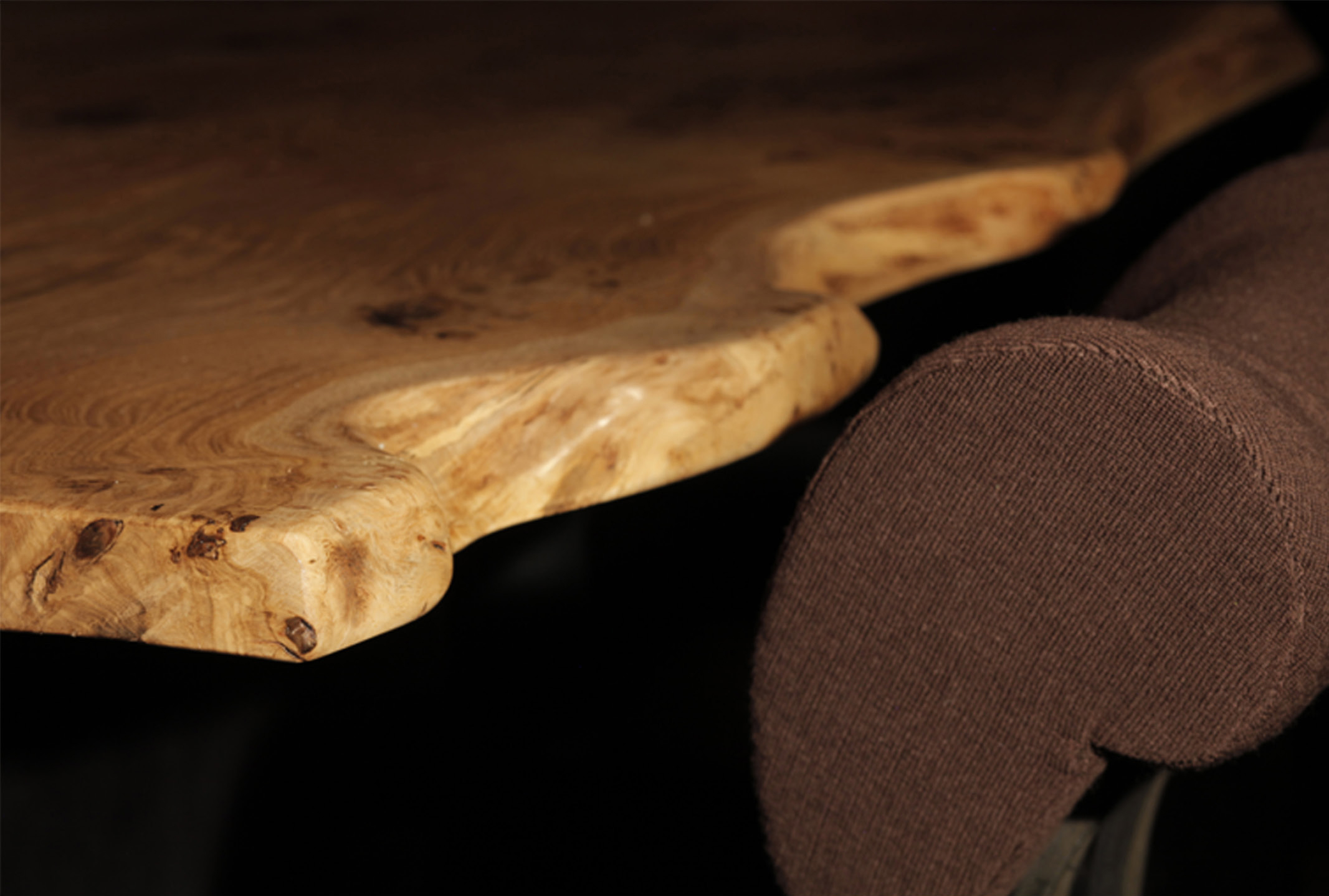 White Oak Table and Chair Detail