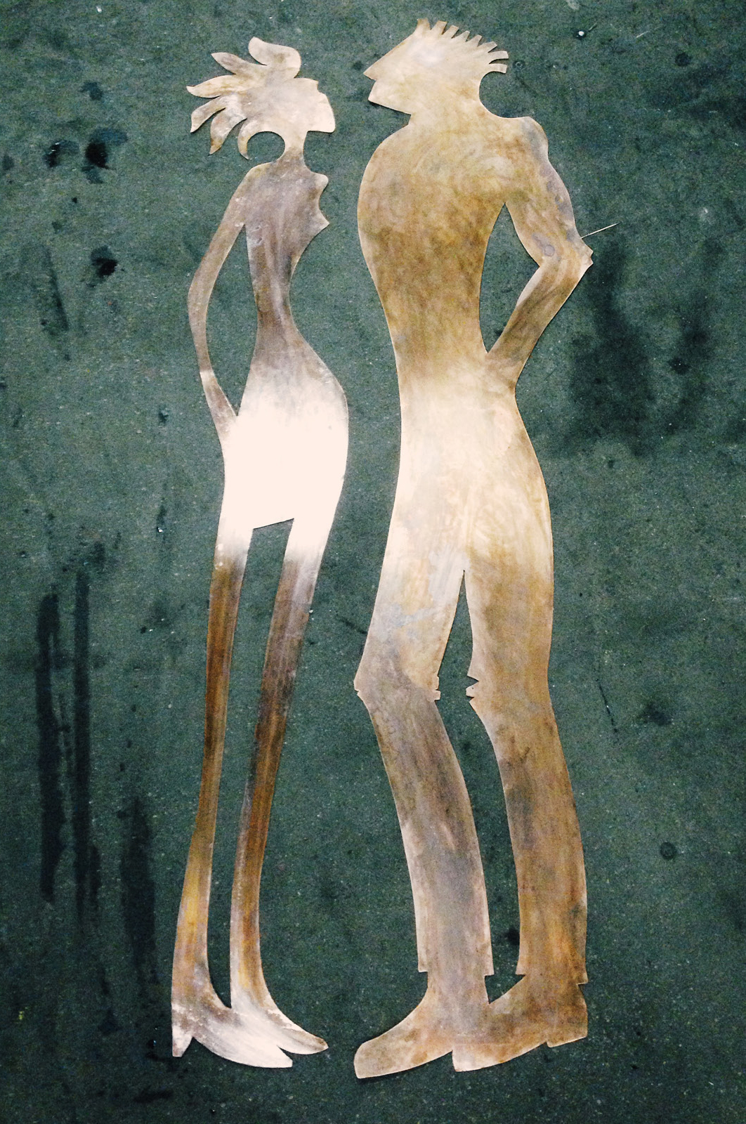 Copper Woman and Man