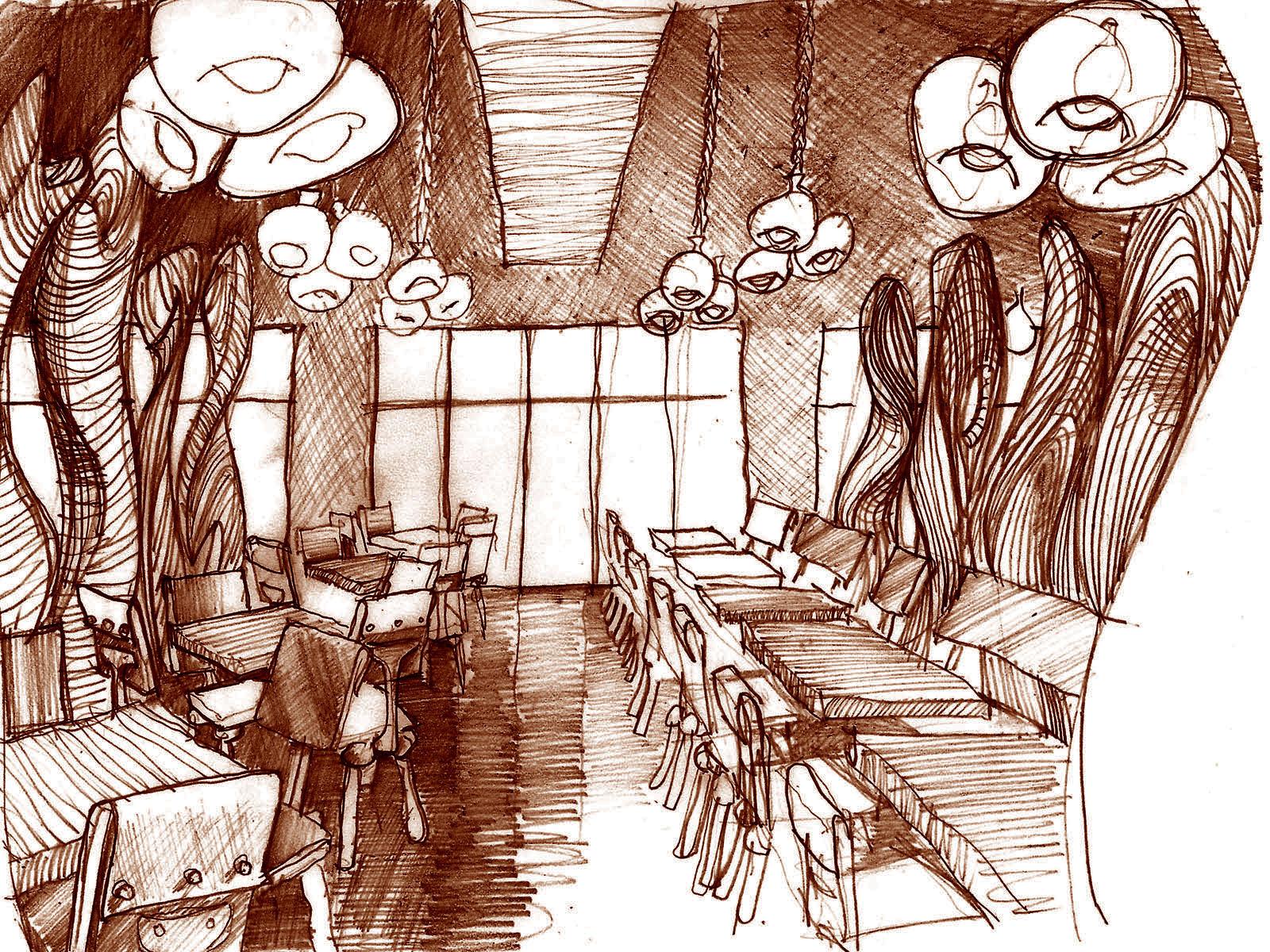 Interior Concept Pencil Study