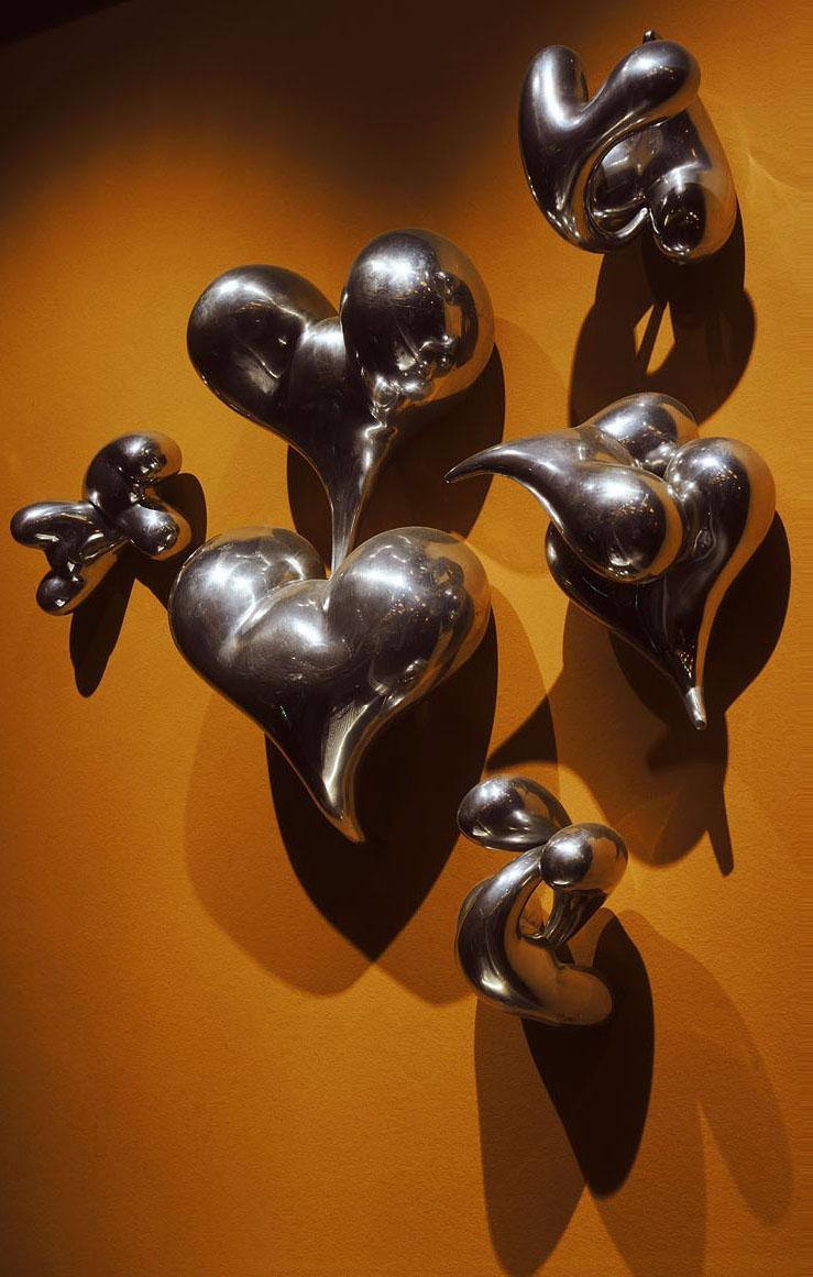 Hugging Hearts Wall Sculpture