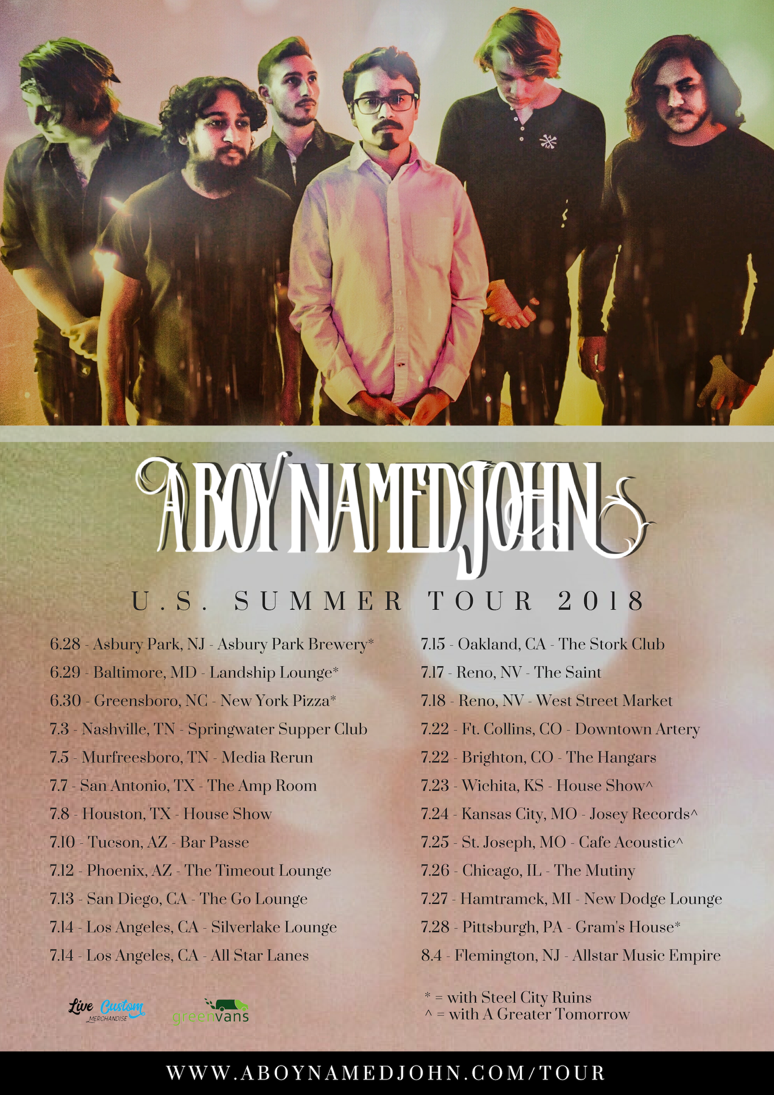 U.S. Summer Tour 2018