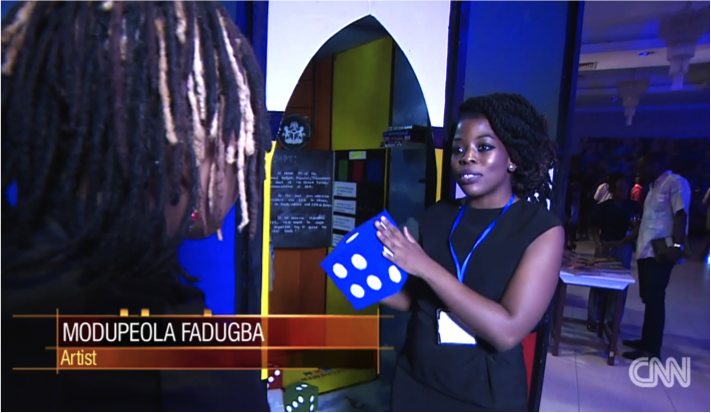 Playing the Game      On the competition night, I was   interviewed by CNN's   Soni Methu  ...