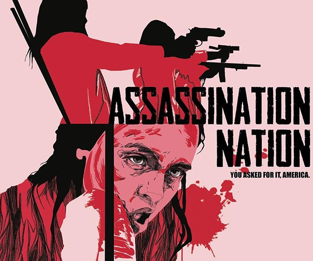 Poster design for Assassination Nation. Thank you @indiaenglish for showing me this film 💕 . . . . . . . . . #posterdesign #filmposterdesign #movieposter #movieposterart #art #illustration #illustrator #annadwilliams #assassinationnation