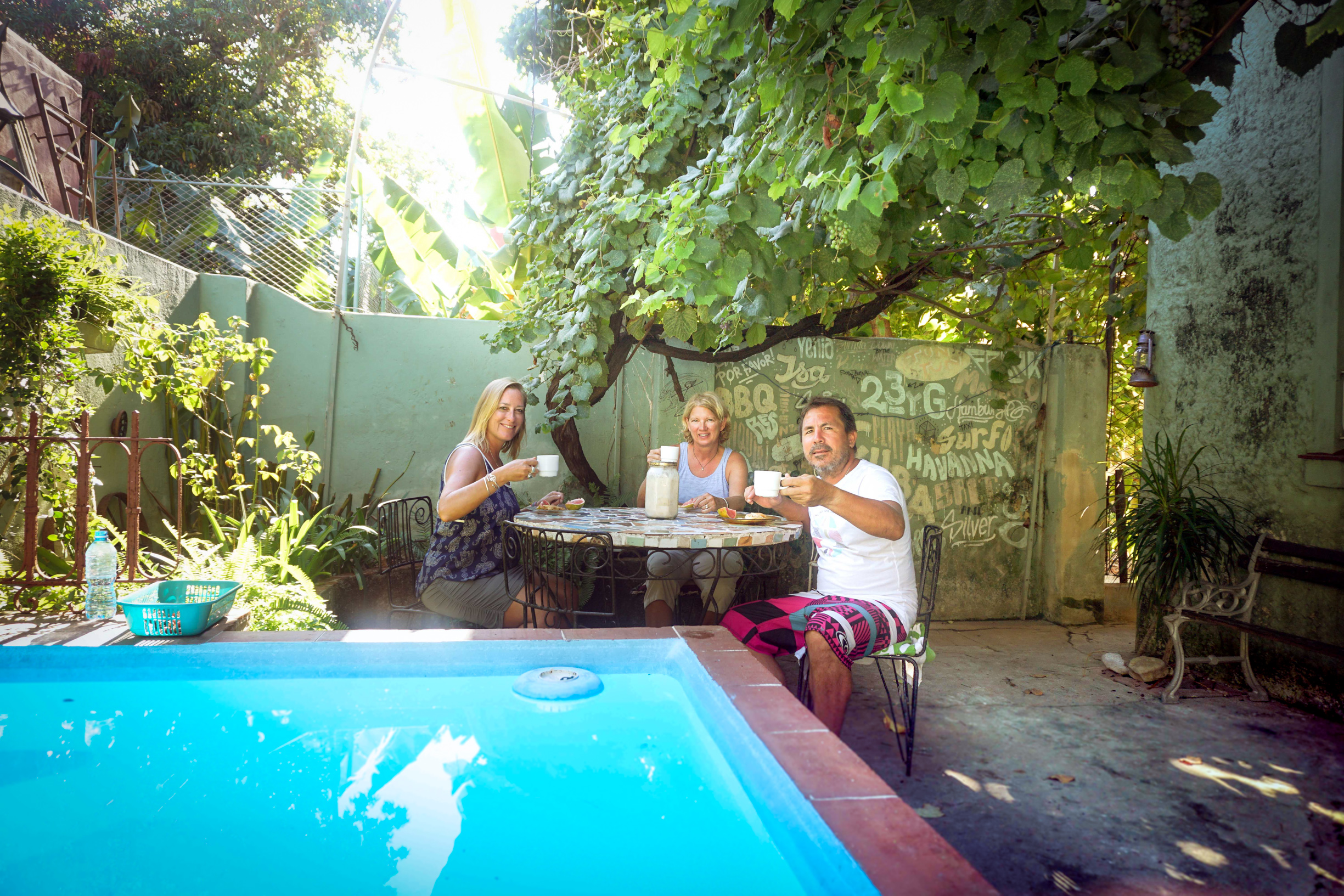 Every morning began with tuna sandwiches and cafecitos. This magical backyard made everything taste better and last longer.