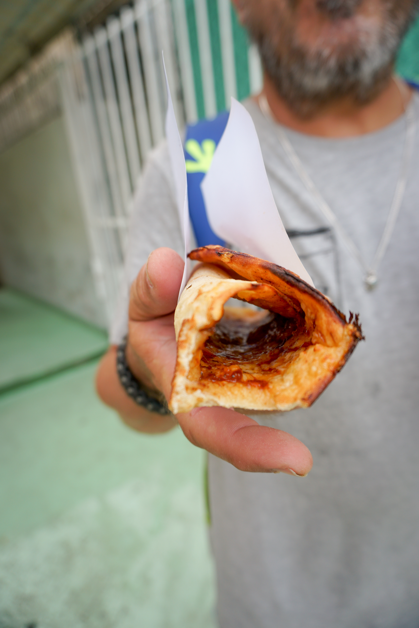 When you want to eat on the go in Cuba, your choices will almost always be either some variation of a ham and cheese sandwich, a hamburger, or pizza. This particular pizza Napolitano from Giselles Pizza near the National Hotel was not only incredibly hot and tasty, it was also the least expensive we found.