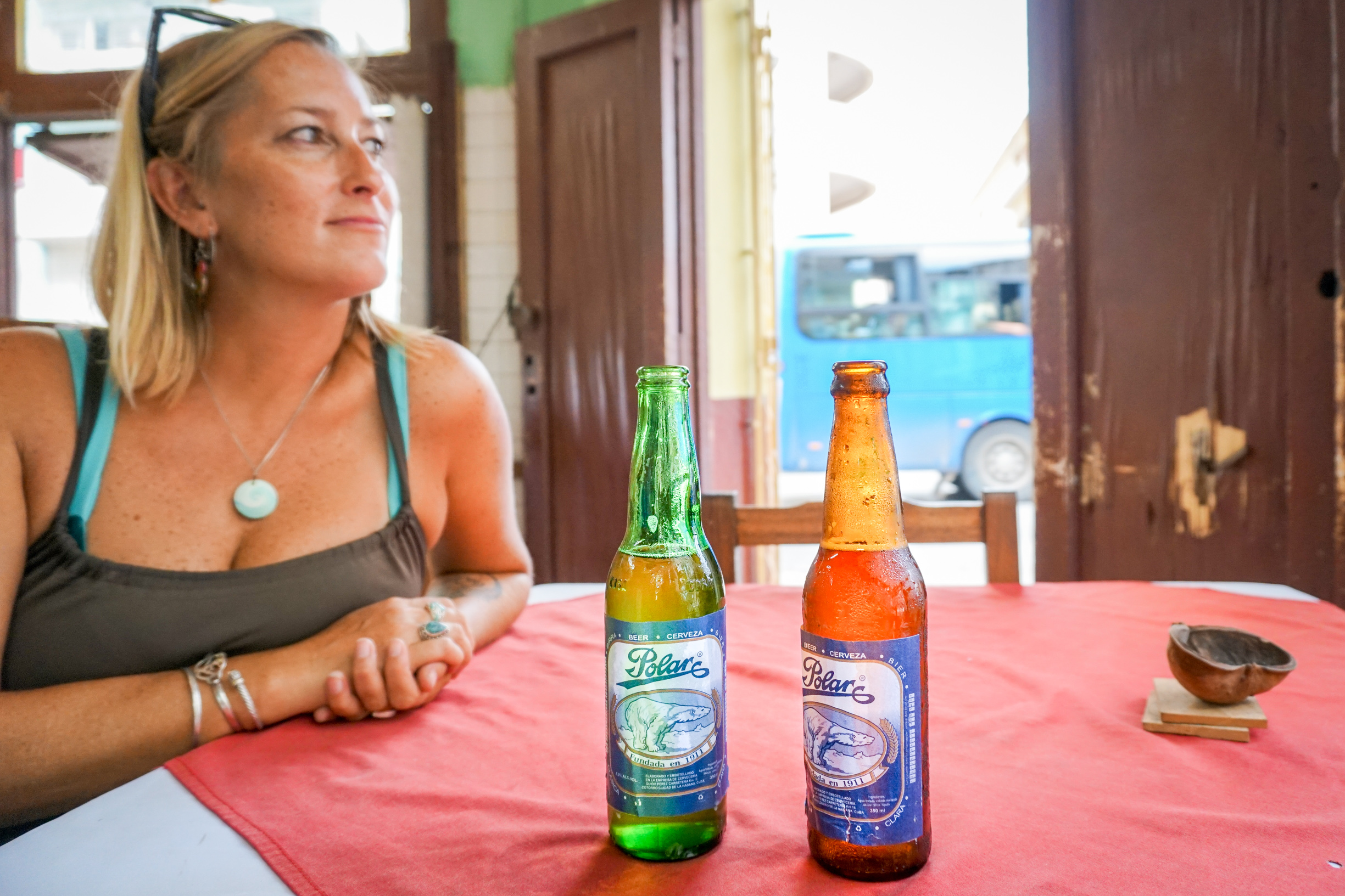 Just as we made it out of the tourist trap that is Callejon de Hamel, an alley with  painted walls and amusing sculpture, we managed to stumble across this corner bar just a few yards away. Here, we had the coldest, cheapest beer sold on the island - or so we were convinced.